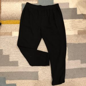 Jcrew jogger style black fancy work pants slim